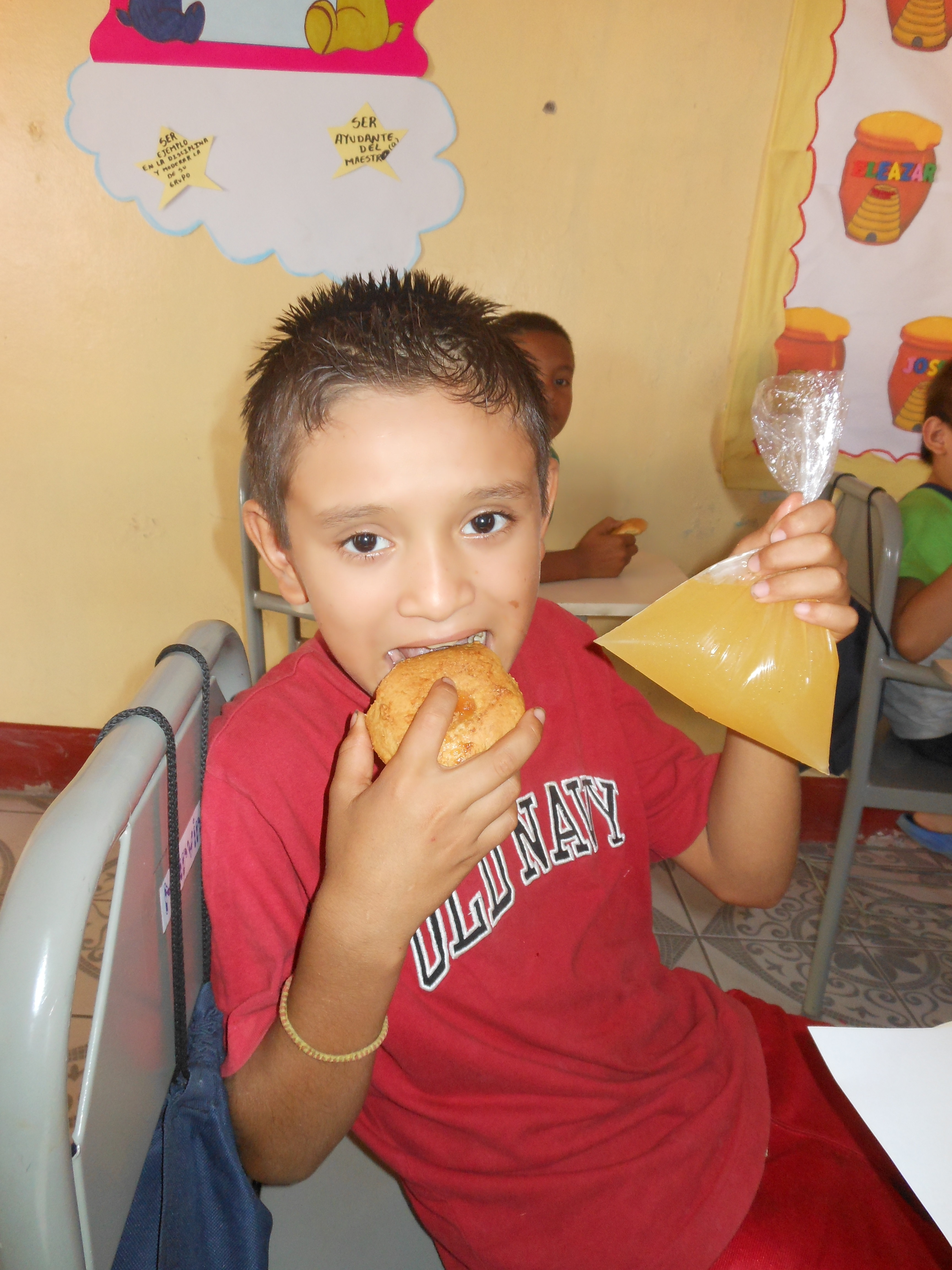 Breakfast & Lunch: Some of us who don't have the opportunity to eat well at home get filled up at Infantil Tary!! On record we have children who have gained ...